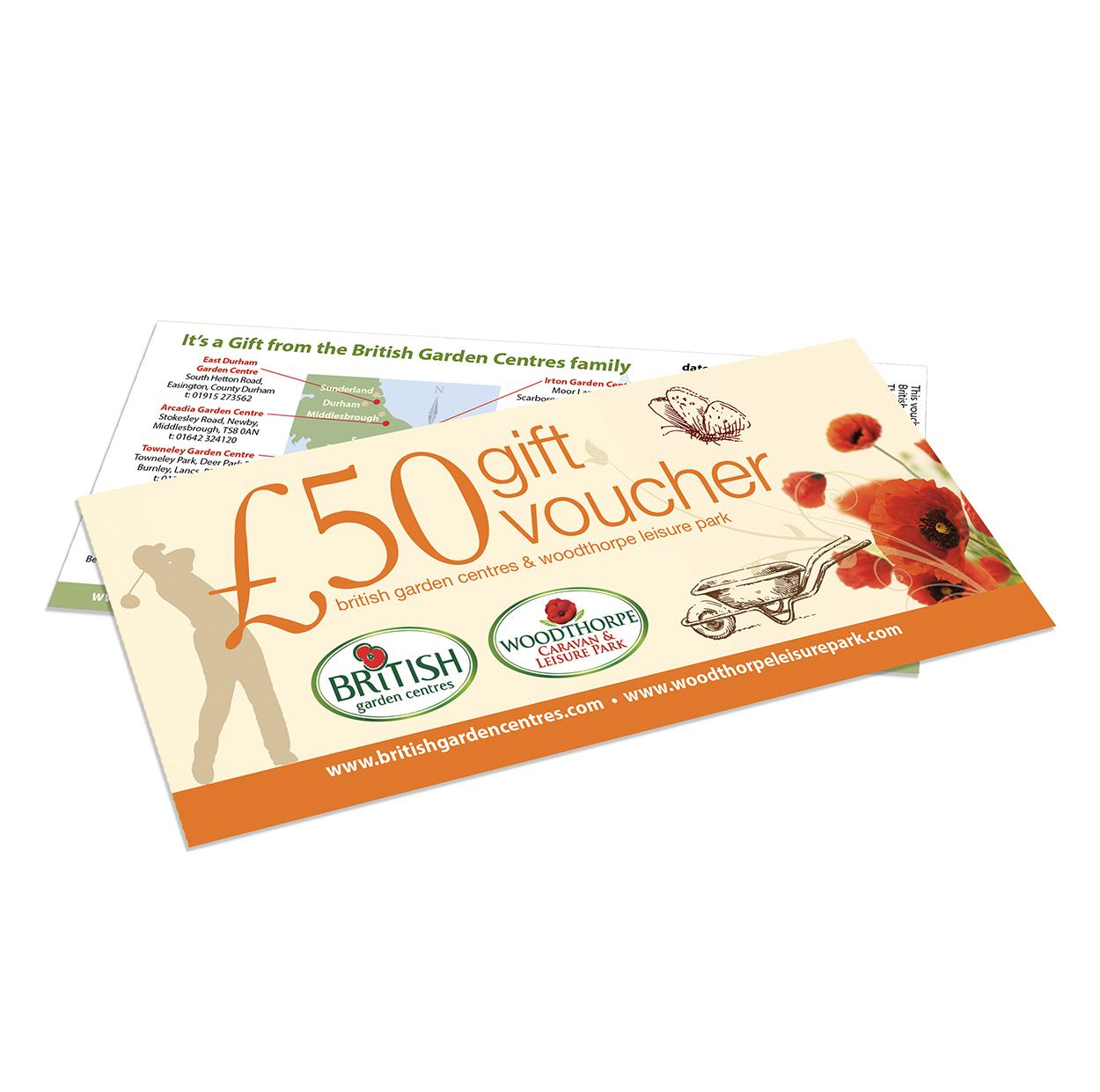 50 gift voucher british garden centres for Gardening gift vouchers
